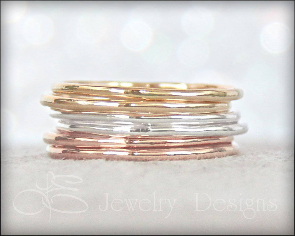 Thin Stacking Rings - (choose metal) - LE Jewelry Designs