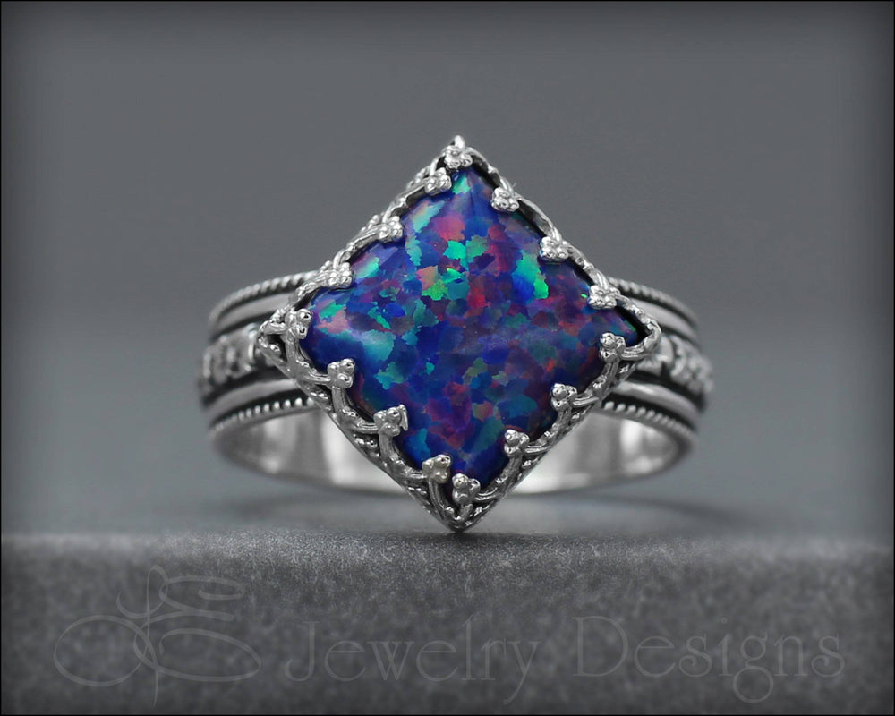 Square Opal Ring