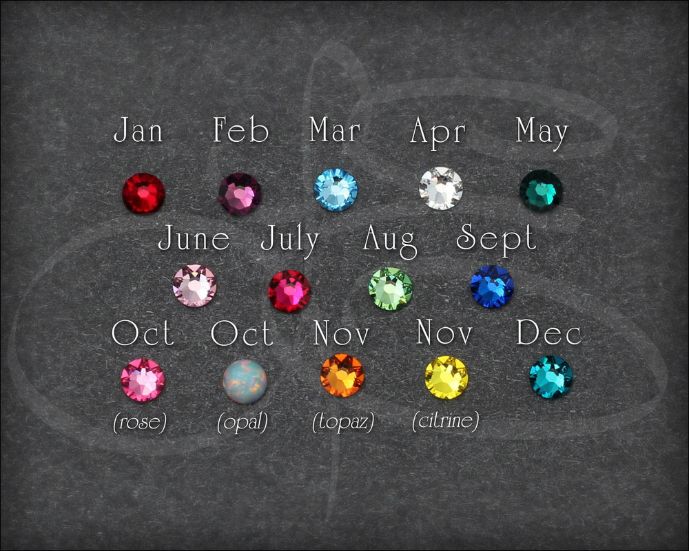 Birthstone Ring Set - (with 2 birthstones)