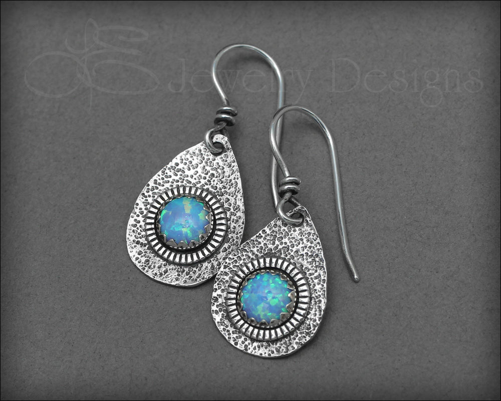 Artisan Opal Teardrop Earrings