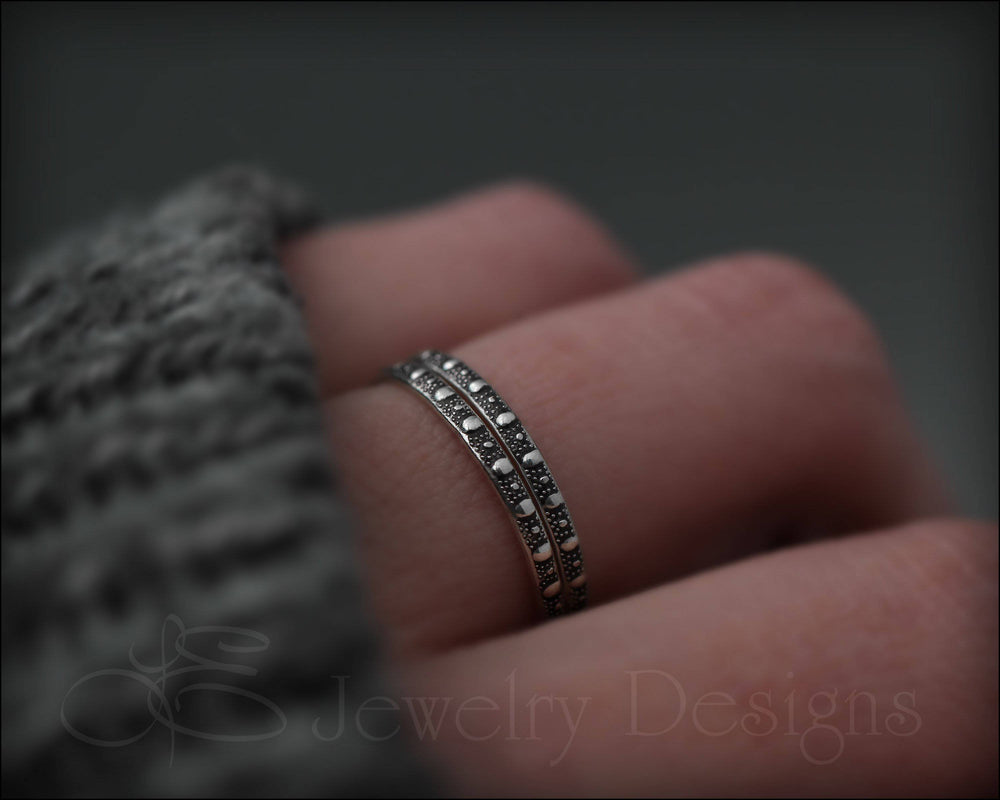Thin Dotted Stacking Ring