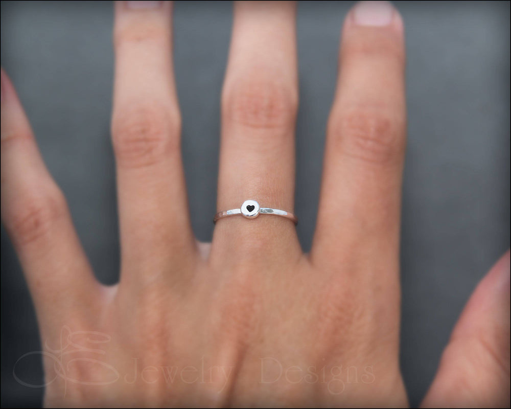 Tiny Initial Ring - LE Jewelry Designs