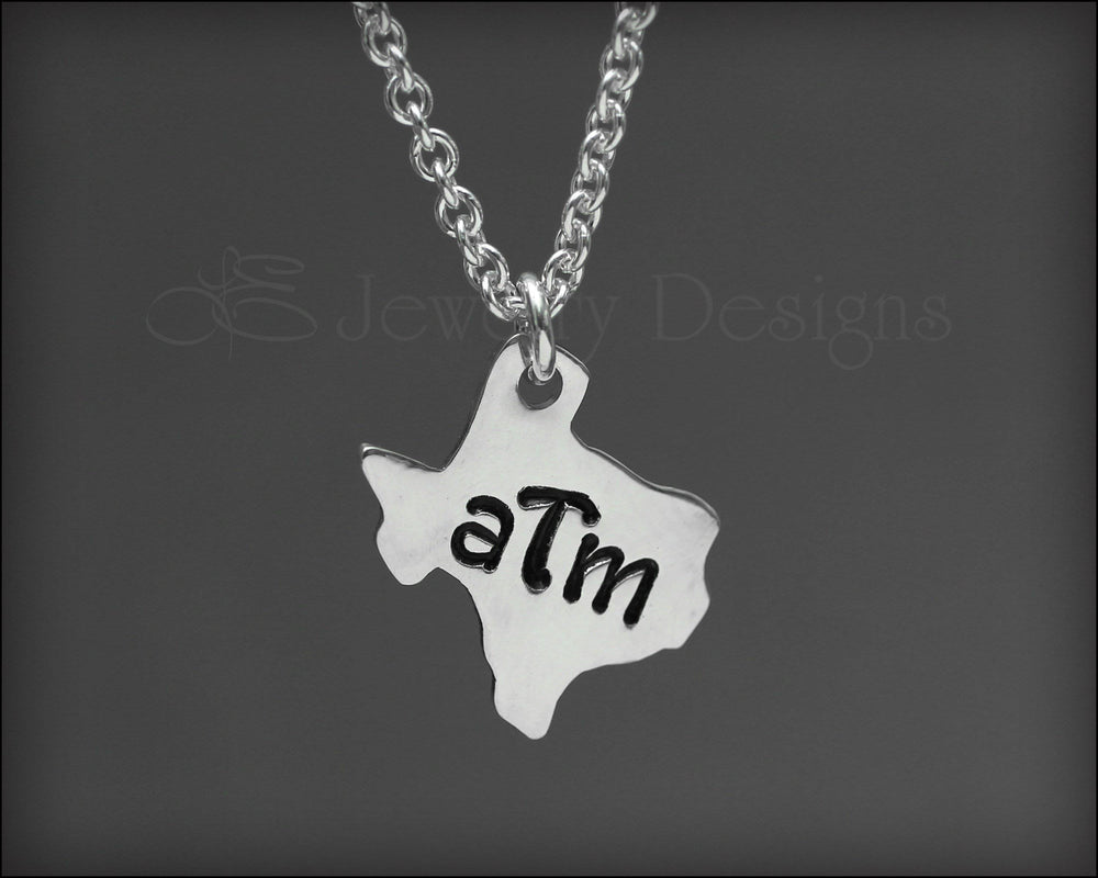 Tiny Sterling Silver Texas Necklace - LE Jewelry Designs