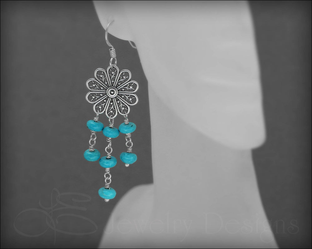 Boho Chic Turquoise Earrings - LE Jewelry Designs