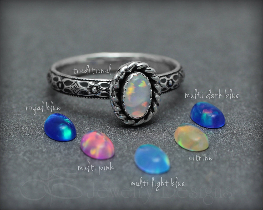 Vintage Style Opal Ring (choose color)
