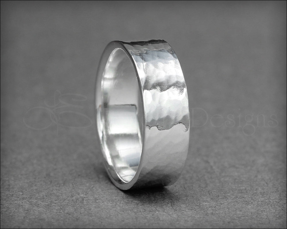 Wide Sterling Silver Band