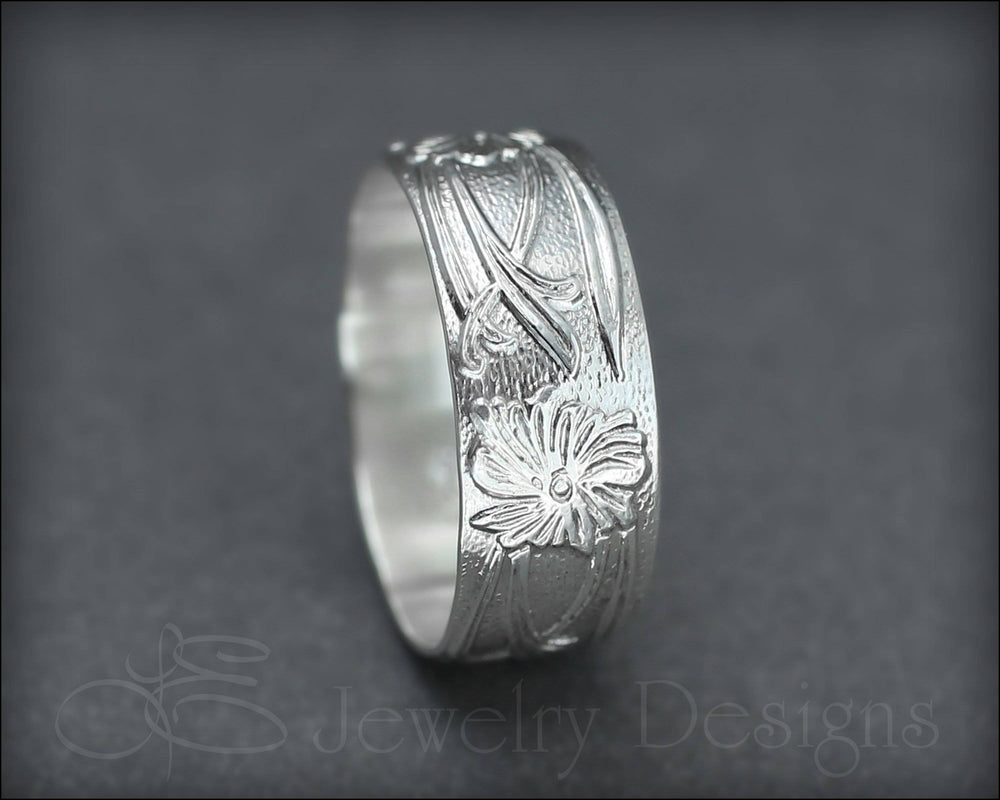 Art Nouveau Wide Floral Band
