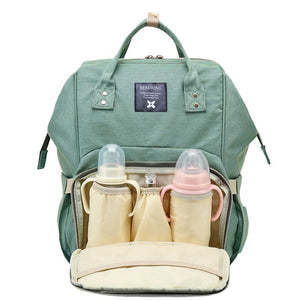 The Mamma Diaper Bag - Green Dogs