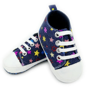 Canvas Baby Sneakers - Stars