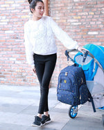 On-the-Go Mamma Diaper Backpack - Black Dots