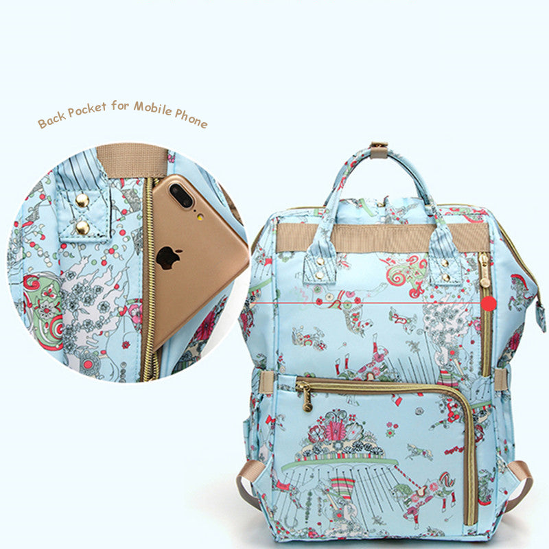 The Mamma Diaper Bag - Blue