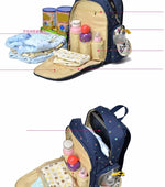 On-the-Go Mamma Diaper Backpack - Purple
