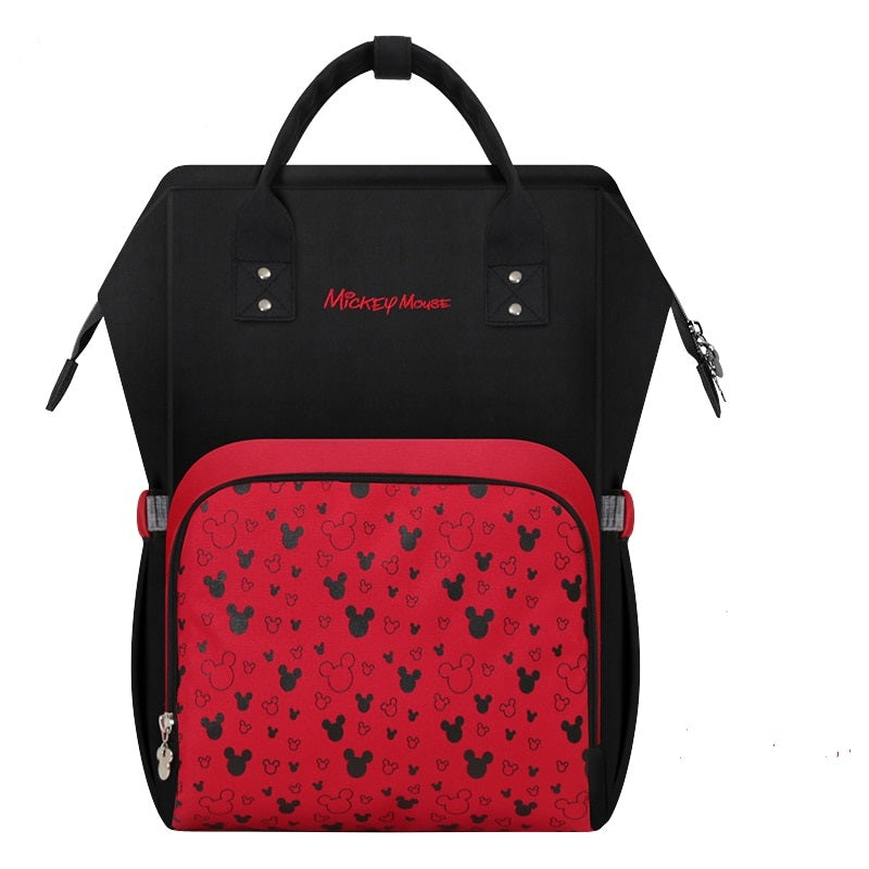 The Mamma Mickey Diaper Bag - Black/Red