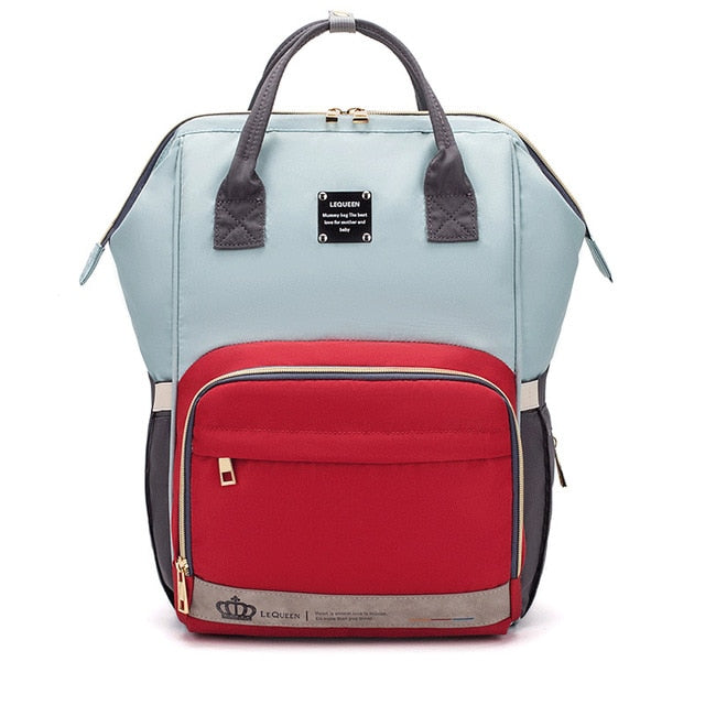 The Mamma Diaper Bag 2.0 - Teal/Red