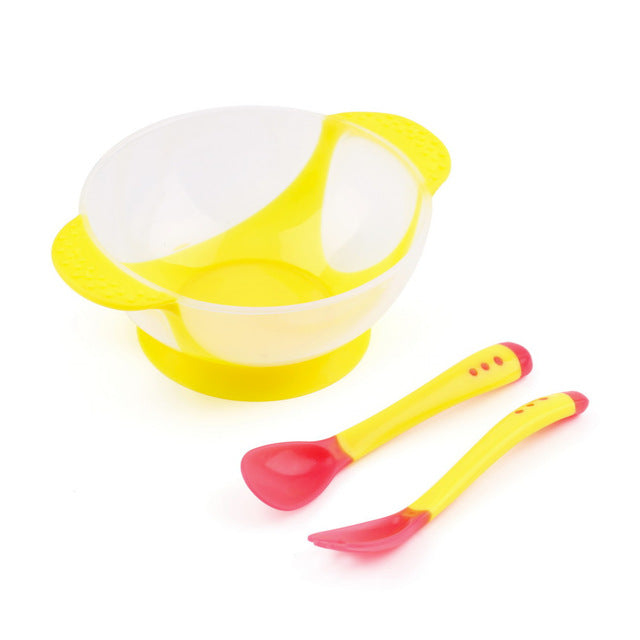 No-Spill Feeding Set - Yellow