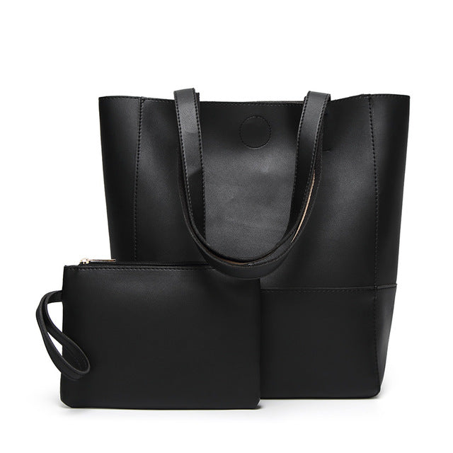 The Mamma Shoulder Bag + Matching Purse - Black