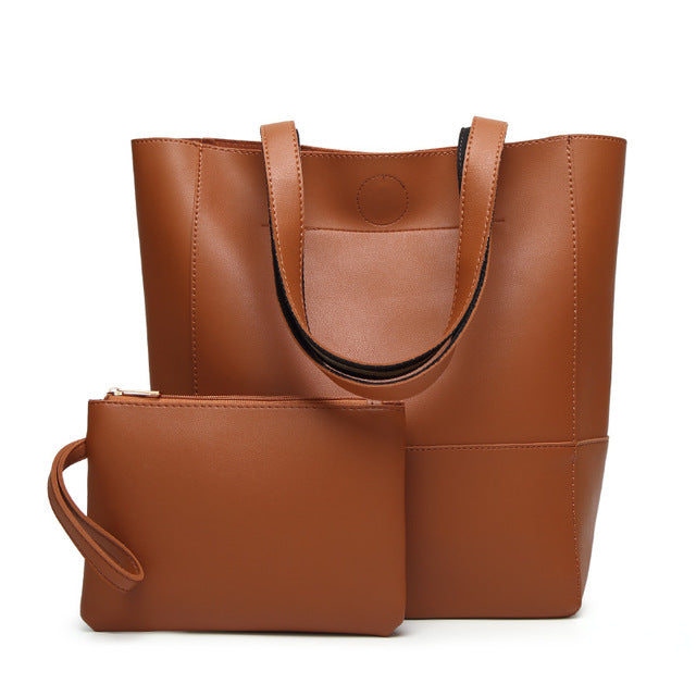 The Mamma Shoulder Bag + Matching Purse - Brown