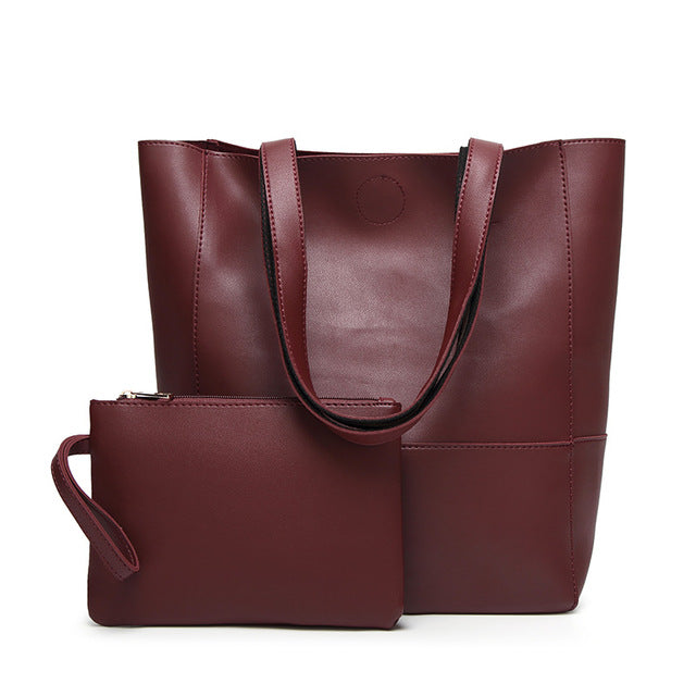 The Mamma Shoulder Bag + Matching Purse - Burgundy