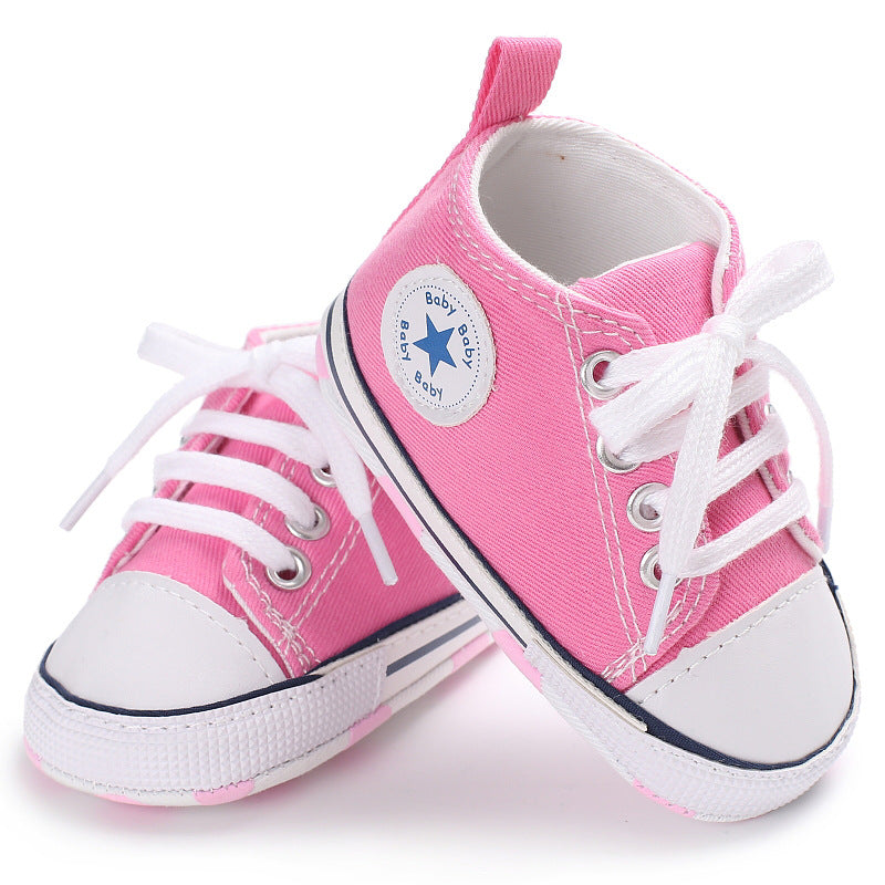 Canvas Baby Sneakers - Pink