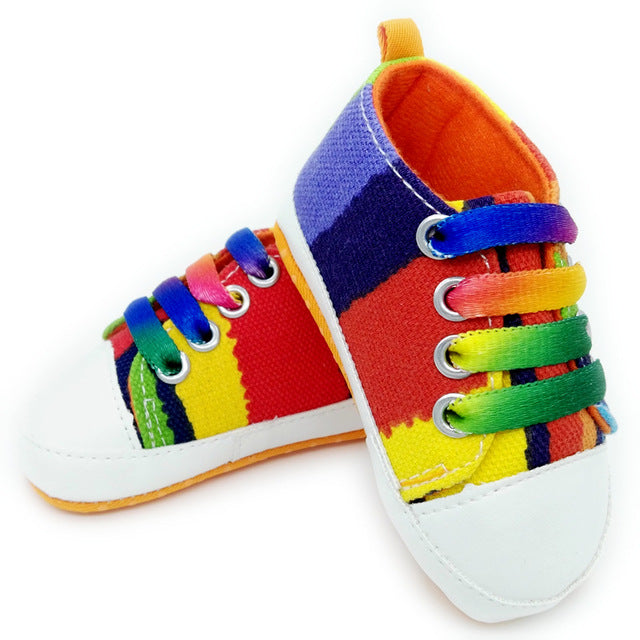 Canvas Baby Sneakers - Rainbow