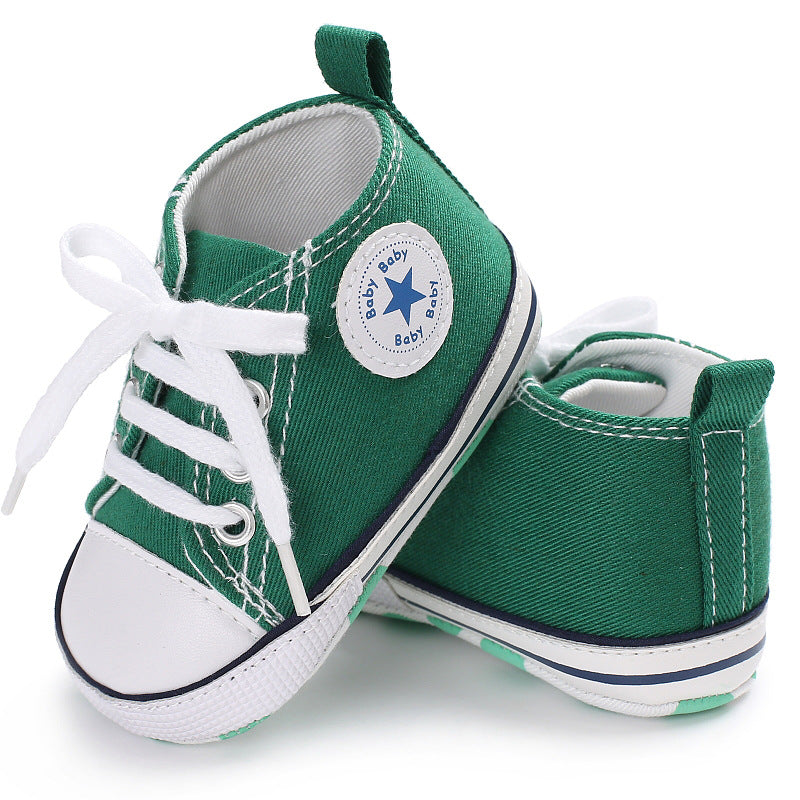 Canvas Baby Sneakers - Green