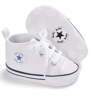 Canvas Baby Sneakers - White