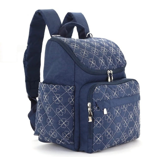 The Mamma Diaper Backpack - Navy Blue