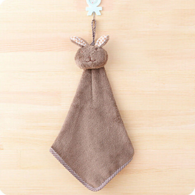 Plush Rabbit Hanging Hand Towel - 5 Colors