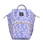 The Mamma Diaper Bag - Purple / Bears