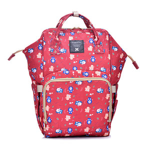 The Mamma Diaper Bag - Red Owls