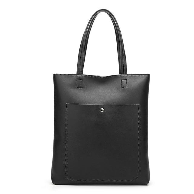 The Mamma Soft Leather Bucket Handbag - Black