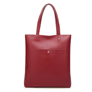 The Mamma Soft Leather Bucket Handbag - Burgundy