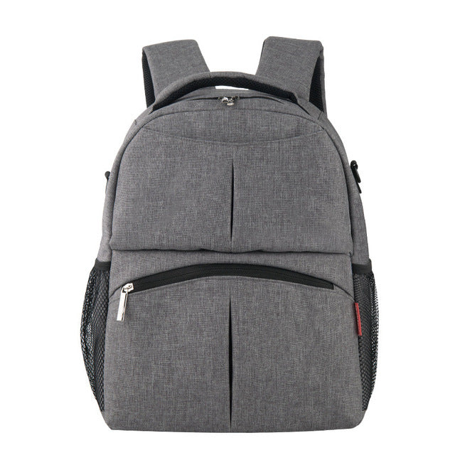 Jacquard Diaper Backpack - Grey