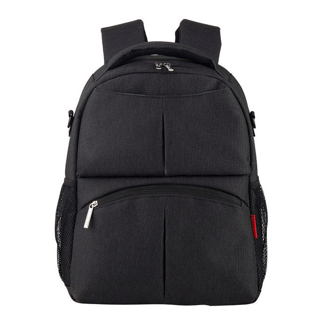 Jacquard Diaper Backpack - Charcoal