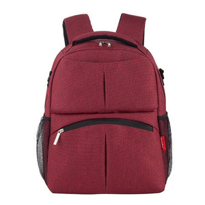 Jacquard Diaper Backpack - Burgundy