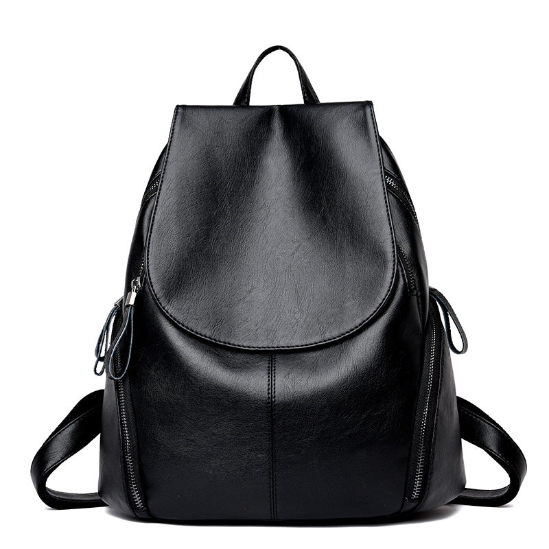 The Mamma Leather Shoulder Bag - Black