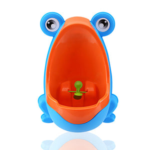 Wall-Mounted Urinal - Blue / Orange