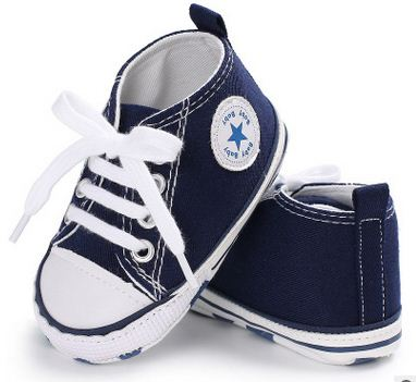 Canvas Baby Sneakers - Blue
