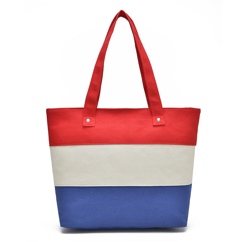 The Mamma Tote - Red / White / Blue