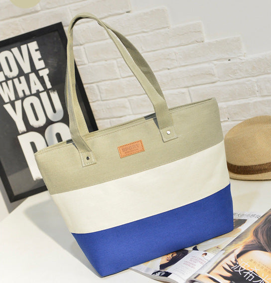 The Mamma Tote - Grey / White / Blue
