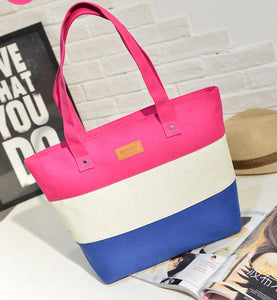The Mamma Tote - Pink / White / Blue