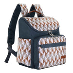 The Mamma Diaper Backpack - Blue / White / Brown