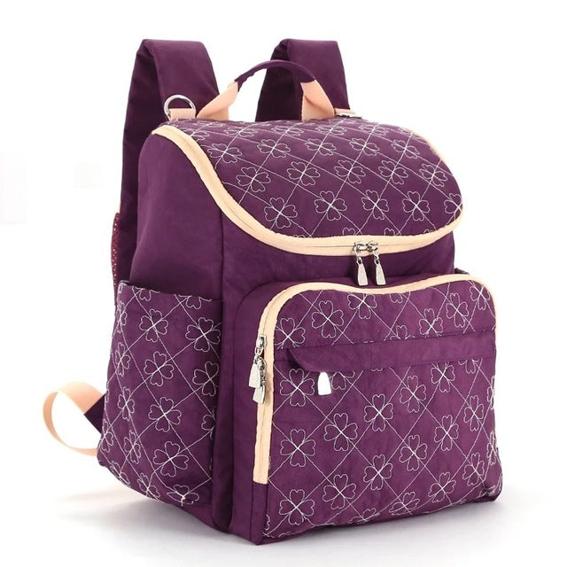 The Mamma Diaper Backpack - Purple