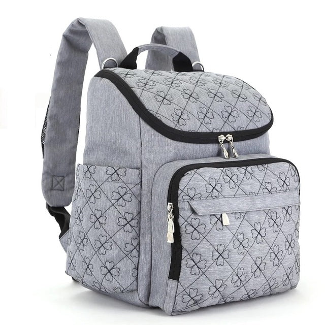 The Mamma Diaper Backpack - Grey