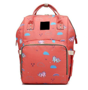 The Mamma Diaper Bag - Orange Unicorns