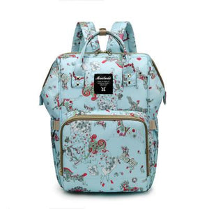 The Mamma Diaper Bag - Blue Horses
