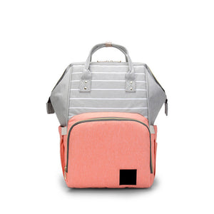 The Mamma Diaper Bag - Grey/Pink