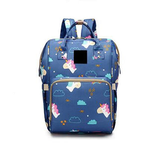 The Mamma Diaper Bag - Blue Unicorn