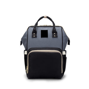The Mamma Diaper Bag - Grey/Black