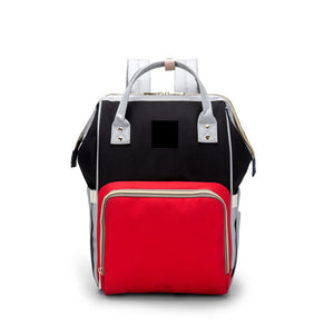The Mamma Diaper Bag - Black/Red